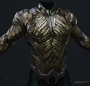Aquaman Armor Front