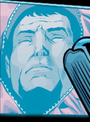 Zod on Lex Luthor's monitor