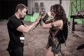 BvS-BTS - Zack Snyder and Gal Gadot on set