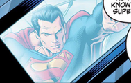 Lex Luthor watches a monitor with Superman on it