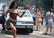 Wonder Woman running through DC