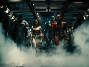 The Justice League preparing to fight Steppenwolf ZSJL