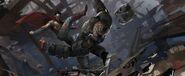 Batman v Superman Dawn of Justice - Duel 01 - Concept Art by Vance Kovacs