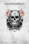 Suicide Squad tattoo poster - El Diablo