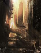BvS Gotham exploration mood painting 3