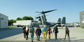 The Suicide Squad get to the chopper