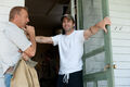MoS - Kevin Costner and Zack Synder on set
