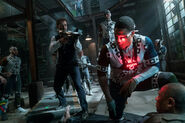 JL-BTS - Zack Snyder and Ray Fisher on set