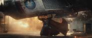 Superman lifts a Russian shuttle