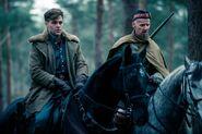 Trevor and Charlie on horses