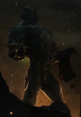 Doomsday holding Superman's body