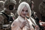 Harley Quinn with military men