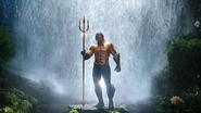 Aquaman in the classic costume promotional still