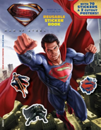 Man of Steel Reusable Sticker Book cover