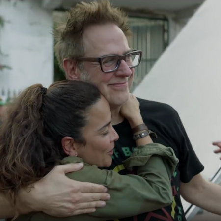 Alice Braga and James Gunn - The Suicide Squad BTS.png