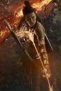 Artemis aims an arrow at an Apokoliptian ship