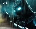 Armored Batman in the rain