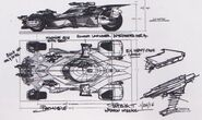 Justice League Batmobile Sketch