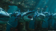 Atlantean soldiers riding sharks promotional still