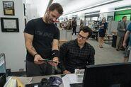 BvS-BTS - Zack Snyder and Henry Cavill on set