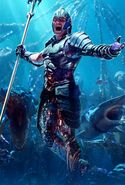 Aquaman King Orm Character Textless Poster
