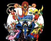 Titans raven cyborg robin changeling donna troy kid flash.jpg