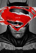 BvS Batman Superman-Logo Poster