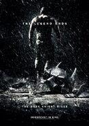 The Dark Knight Rises Broken Batman Poster