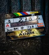 Black Adam movie clapboard