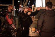 Suicide squad set photo david ayer will smith