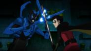Blue Beetle vs Robin JLvsTT
