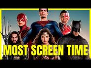 ZACK SNYDER'S JUSTICE LEAGUE Characters Screen Time