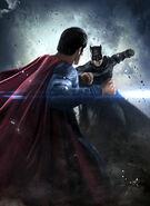 Batman v Superman Dawn of Justice face off