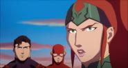 JLToA Superman, The Flash and Mera