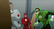 JLToA Cyborg, The Flash and Green Lantern