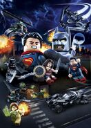 The Dawn Of Justice Lego poster
