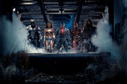 Batman, Wonder Woman, Cyborg, Flash and Aquaman