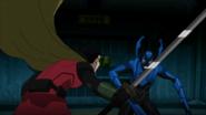 Blue Beetle vs Robin JLvsTT 1