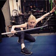 Amber Heard training