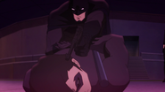 Batman about to shot Nightwing BMBB
