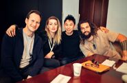 James Wan with the Aquaman cast