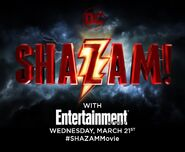Shazam! Logo Entertainment Weekly Announcement