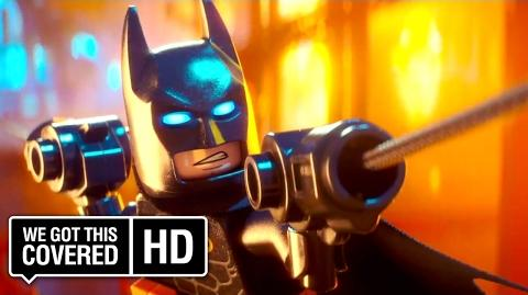 "The LEGO Batman Movie ""The Batcave"" Clip HD Rosario Dawson, Ralph Fiennes, Will Arnett"
