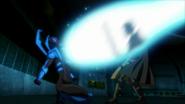 Blue Beetle blasts Robin JLvsTT