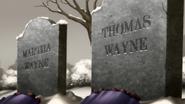 Martha and Thomas Wayne's graves BYO