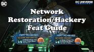 DCUO Network Restoration Hackery Feats How-To!