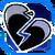 Icon Broken Heart Blue