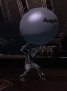 Player with Batman Bouncy Ball