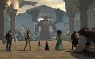 Gods of Olympus facing Typhon