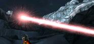 Superman using heat vision